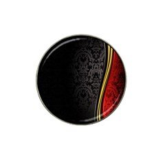 Black Red Yellow Hat Clip Ball Marker (4 pack)