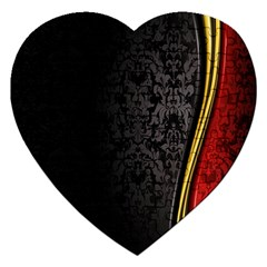 Black Red Yellow Jigsaw Puzzle (Heart)