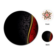 Black Red Yellow Playing Cards (Round)