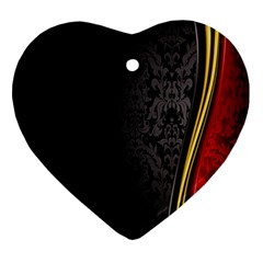 Black Red Yellow Heart Ornament (2 Sides)