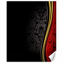 Black Red Yellow Canvas 16  x 20