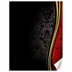 Black Red Yellow Canvas 18  x 24