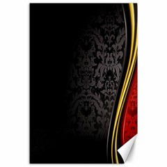 Black Red Yellow Canvas 24  x 36