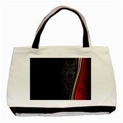 Black Red Yellow Basic Tote Bag (Two Sides)