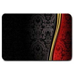 Black Red Yellow Large Doormat
