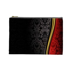 Black Red Yellow Cosmetic Bag (Large)