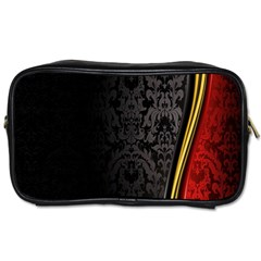 Black Red Yellow Toiletries Bags 2-Side