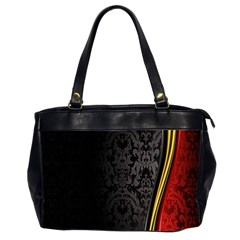 Black Red Yellow Office Handbags (2 Sides)