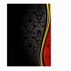 Black Red Yellow Large Garden Flag (Two Sides)