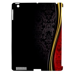 Black Red Yellow Apple iPad 3/4 Hardshell Case (Compatible with Smart Cover)