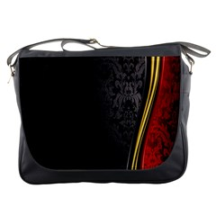 Black Red Yellow Messenger Bags