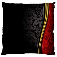 Black Red Yellow Large Cushion Case (One Side)