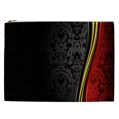 Black Red Yellow Cosmetic Bag (XXL)