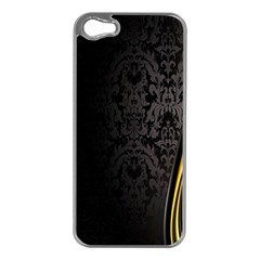 Black Red Yellow Apple iPhone 5 Case (Silver)
