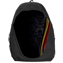 Black Red Yellow Backpack Bag