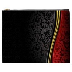 Black Red Yellow Cosmetic Bag (XXXL)
