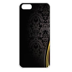 Black Red Yellow Apple iPhone 5 Seamless Case (White)