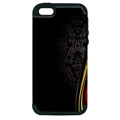 Black Red Yellow Apple iPhone 5 Hardshell Case (PC+Silicone)
