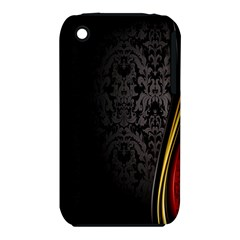 Black Red Yellow iPhone 3S/3GS