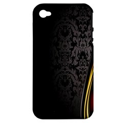 Black Red Yellow Apple iPhone 4/4S Hardshell Case (PC+Silicone)