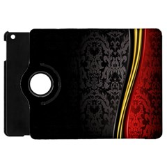 Black Red Yellow Apple iPad Mini Flip 360 Case