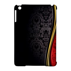 Black Red Yellow Apple iPad Mini Hardshell Case (Compatible with Smart Cover)