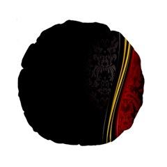 Black Red Yellow Standard 15  Premium Round Cushions