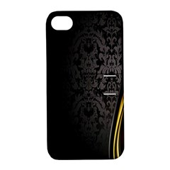 Black Red Yellow Apple iPhone 4/4S Hardshell Case with Stand
