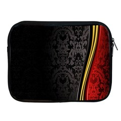 Black Red Yellow Apple iPad 2/3/4 Zipper Cases