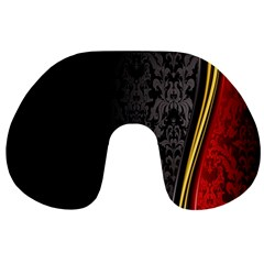 Black Red Yellow Travel Neck Pillows