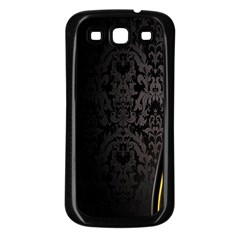 Black Red Yellow Samsung Galaxy S3 Back Case (Black)