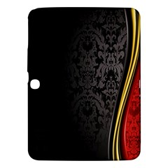 Black Red Yellow Samsung Galaxy Tab 3 (10.1 ) P5200 Hardshell Case