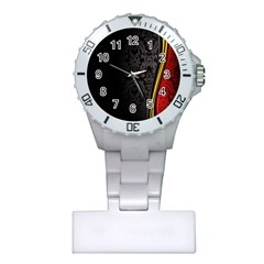 Black Red Yellow Plastic Nurses Watch