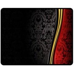 Black Red Yellow Double Sided Fleece Blanket (Medium)