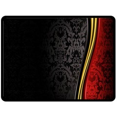 Black Red Yellow Double Sided Fleece Blanket (Large)