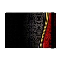 Black Red Yellow iPad Mini 2 Flip Cases