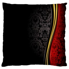 Black Red Yellow Standard Flano Cushion Case (One Side)