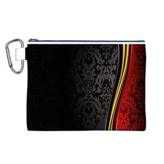 Black Red Yellow Canvas Cosmetic Bag (L)