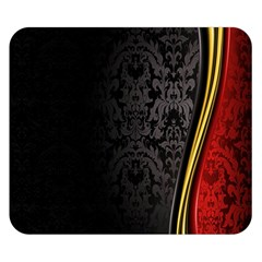 Black Red Yellow Double Sided Flano Blanket (Small)