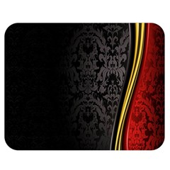 Black Red Yellow Double Sided Flano Blanket (Medium)