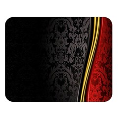 Black Red Yellow Double Sided Flano Blanket (Large)