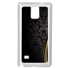 Black Red Yellow Samsung Galaxy Note 4 Case (White)