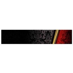 Black Red Yellow Flano Scarf (Small)