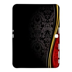 Black Red Yellow Samsung Galaxy Tab 4 (10.1 ) Hardshell Case