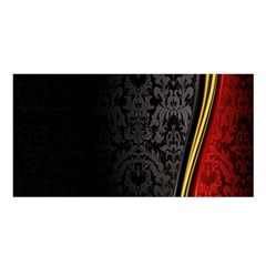 Black Red Yellow Satin Shawl
