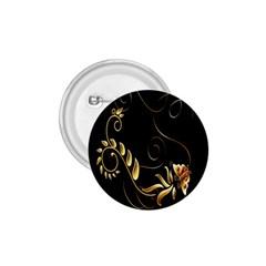 Butterfly Black Golden 1.75  Buttons