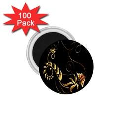 Butterfly Black Golden 1.75  Magnets (100 pack)