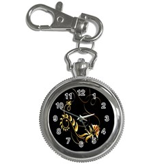 Butterfly Black Golden Key Chain Watches