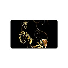 Butterfly Black Golden Magnet (Name Card)
