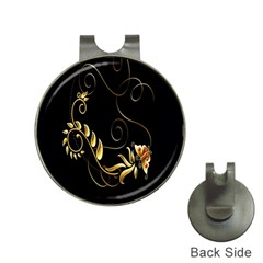 Butterfly Black Golden Hat Clips with Golf Markers